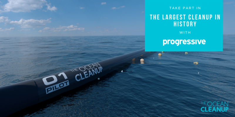 Progressive supports The Ocean Cleanup